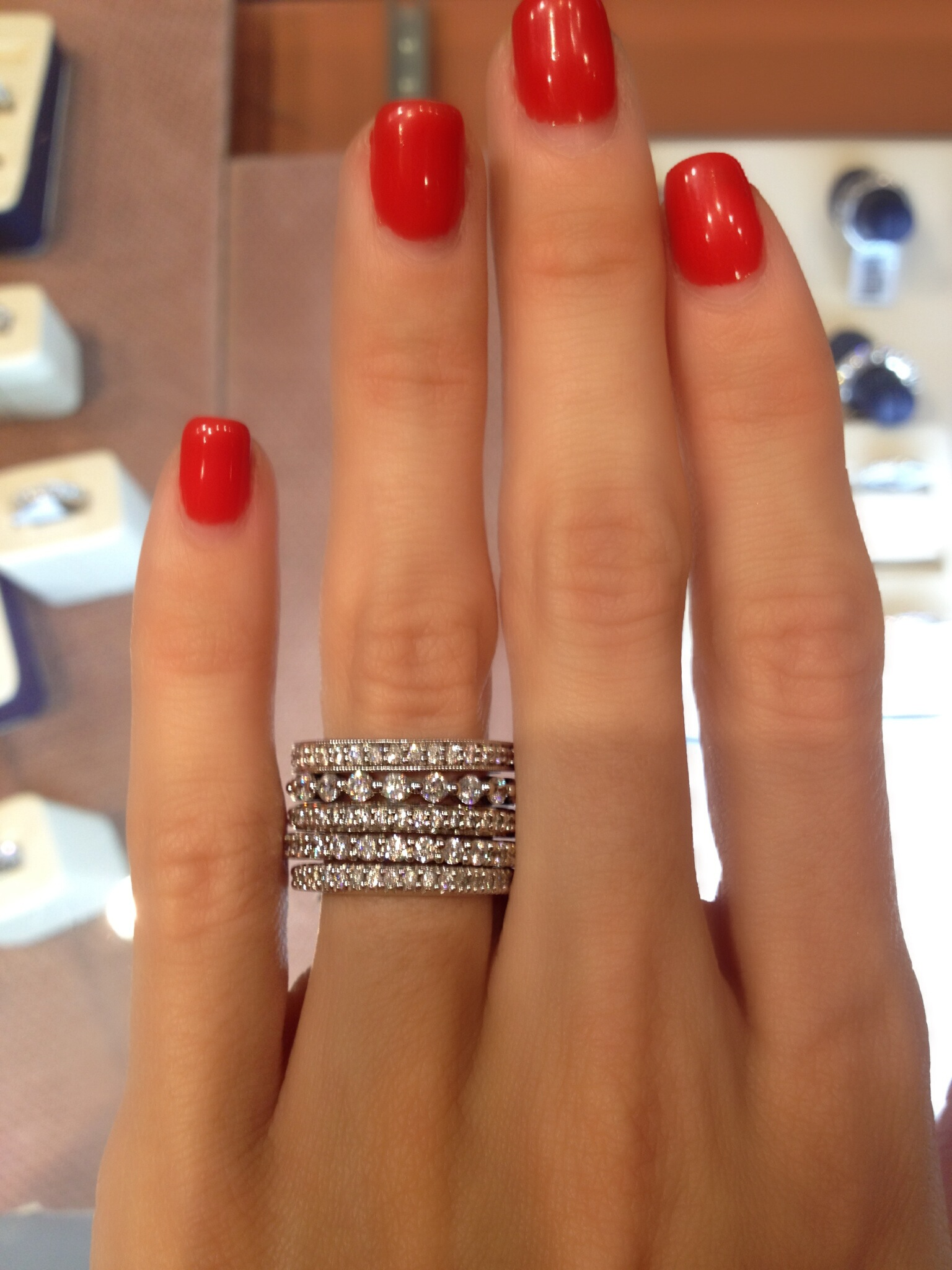 Stacking Diamond Eternity Rings