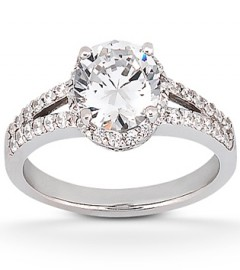 Diamond Engagement Ring with a Diamond Halo